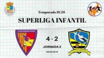 J2  Superliga Infantil: Sala Dominicos Equipe Sport vs AD La Cigüeña 4-2