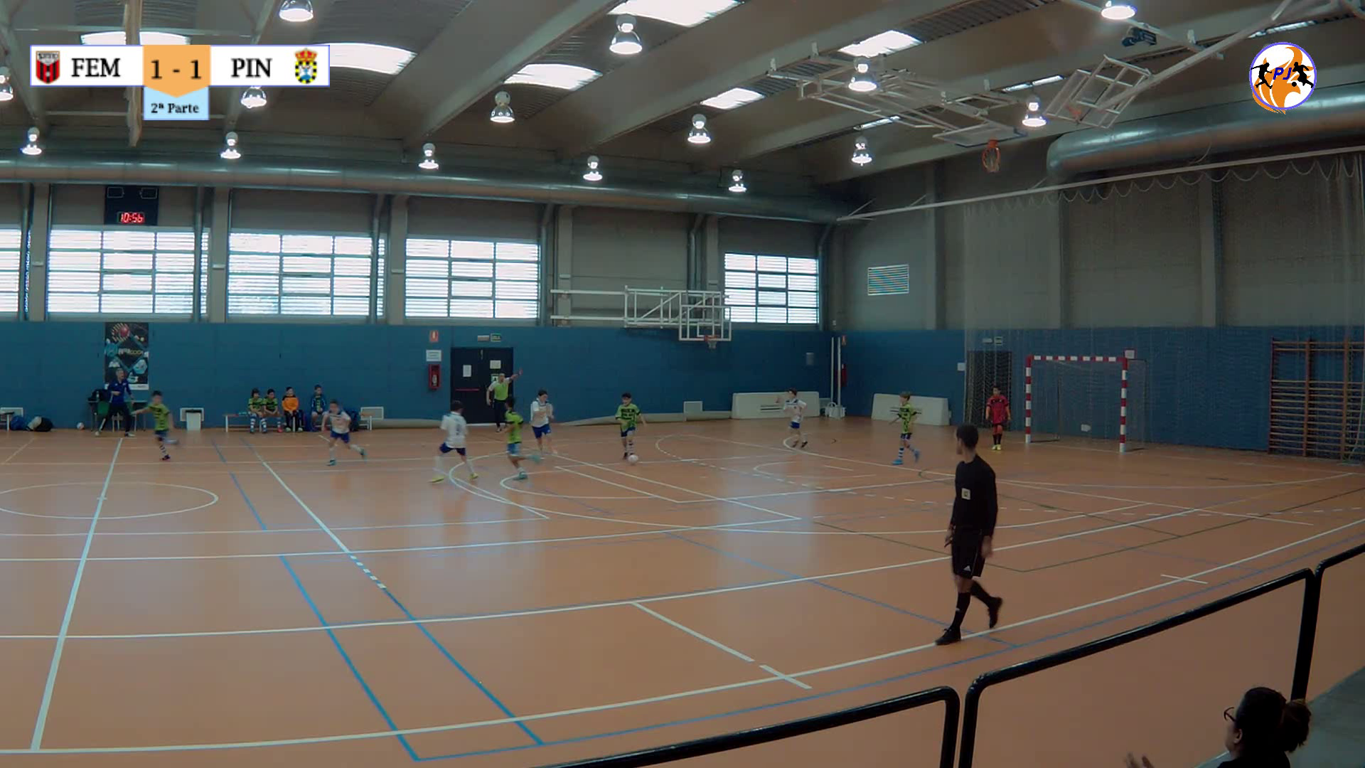 Futbol Emotion Sala 10 vs CD Pinseque 2-2  J12  Superliga Alevín Portero Jugador